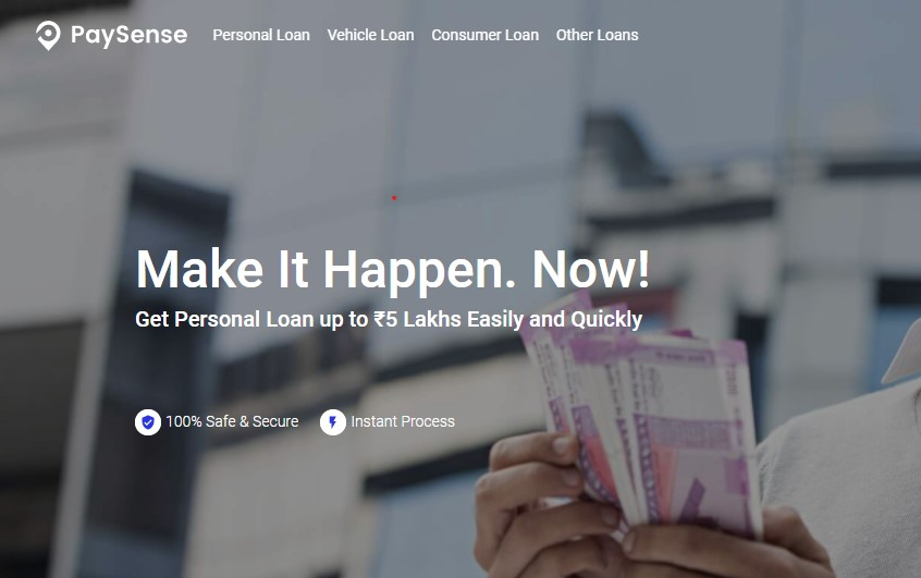 Instant paysense personal loan
