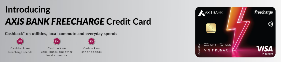 Axis Bank Freecharge Plus Credit Card Banner