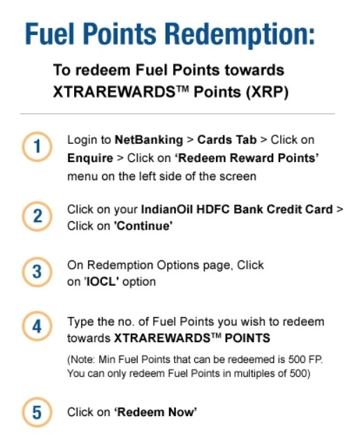 HDFC Indianoil Credit card fuel points
